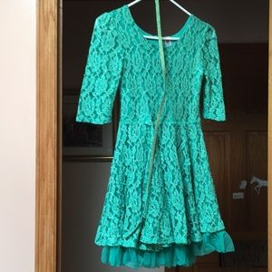 Beautees green floral dress